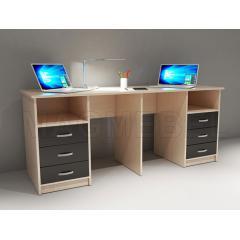 письменные столы для двоих детей от 2800 руб купить недорого